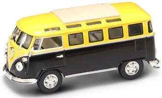 1:43 VW Window Bus w/Closed Roof (Yellow/Black)