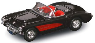 1:43 1957 Corvette Convertible (Black)