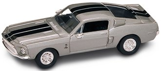 1:43 1968 Ford Shelby GT-500KR (Silver)