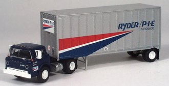 """Ford C w/28' Expost Trailer """"Ryder/P*I*E"""" (Blue/Silver)"""