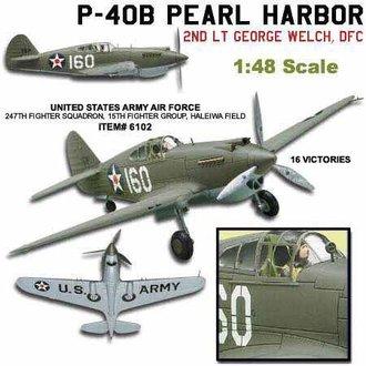 """Curtis P-40B Warhawk """"George Welch, Pearl Harbor, 1941"""""""