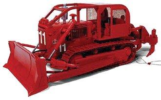 1:25 International TD-25 Fire Dozer w/Ripper & Choker Cables (Red)
