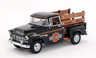 "1955 Chevy Pickup ""Harley-Davidson"" w/Crate Load"