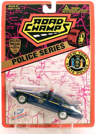 """1995 Chevy Caprice """"New York State Police"""" (Navy Blue) (Blank Plate)"""